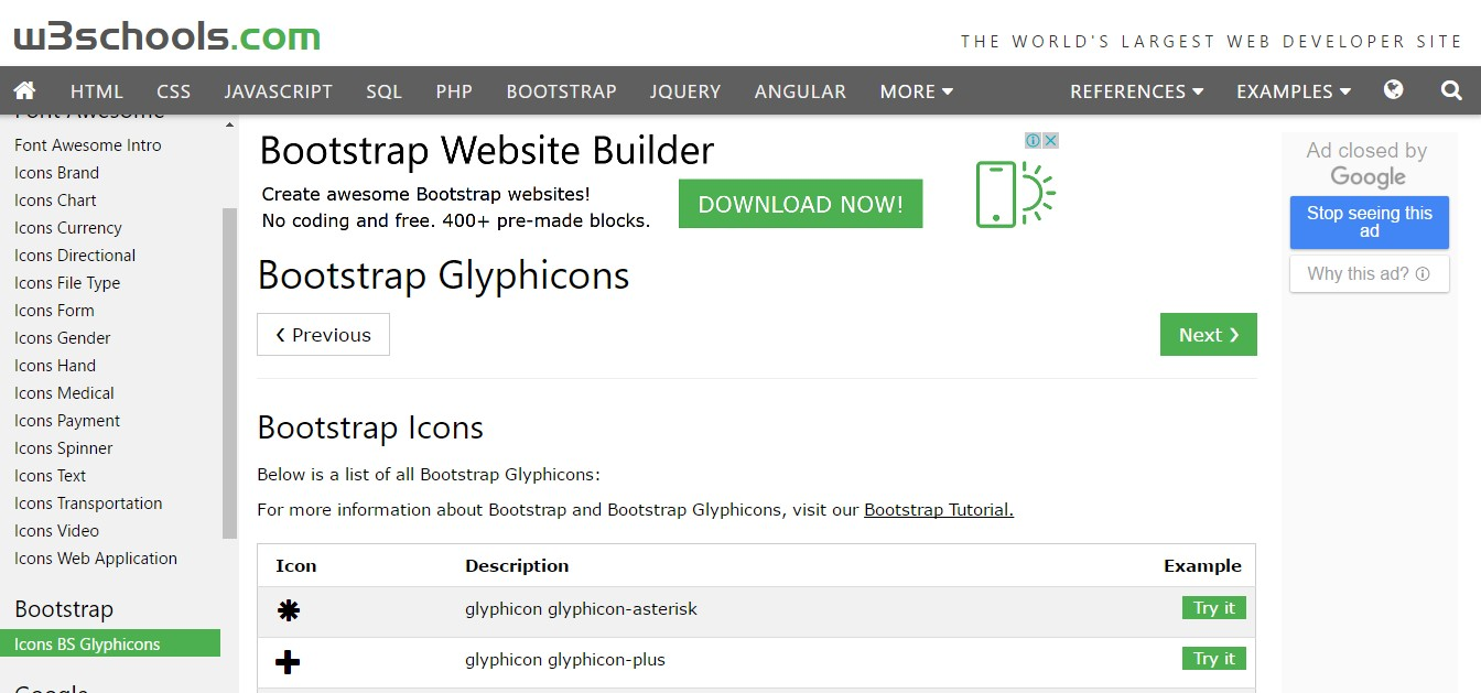 bootstrap iconfont glyphicons