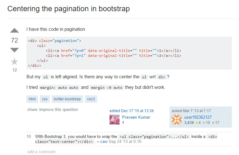 Centering the pagination in Bootstrap