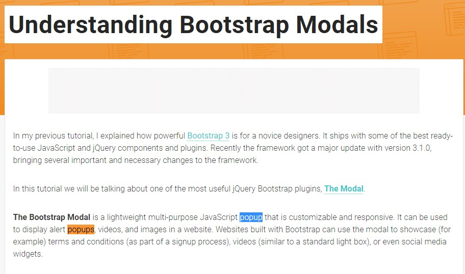Another useful  information  regarding to Bootstrap Modal Popup