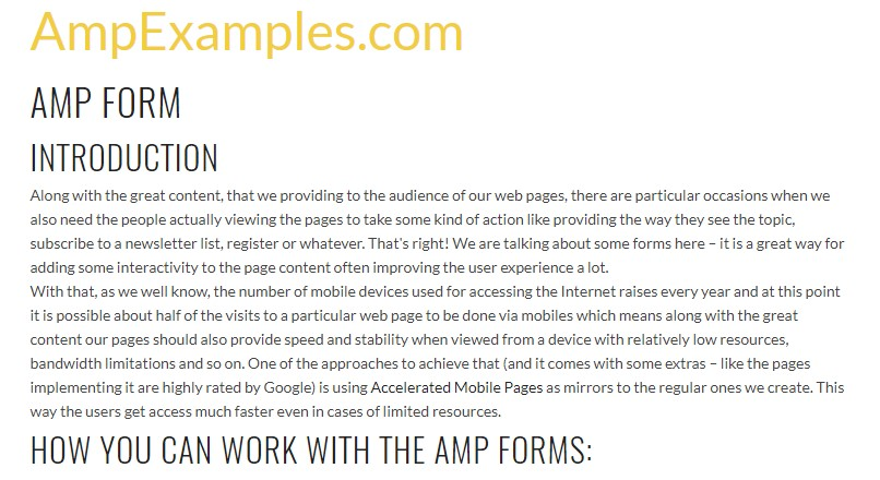 Why don't we examine AMP project and AMP-form  component?