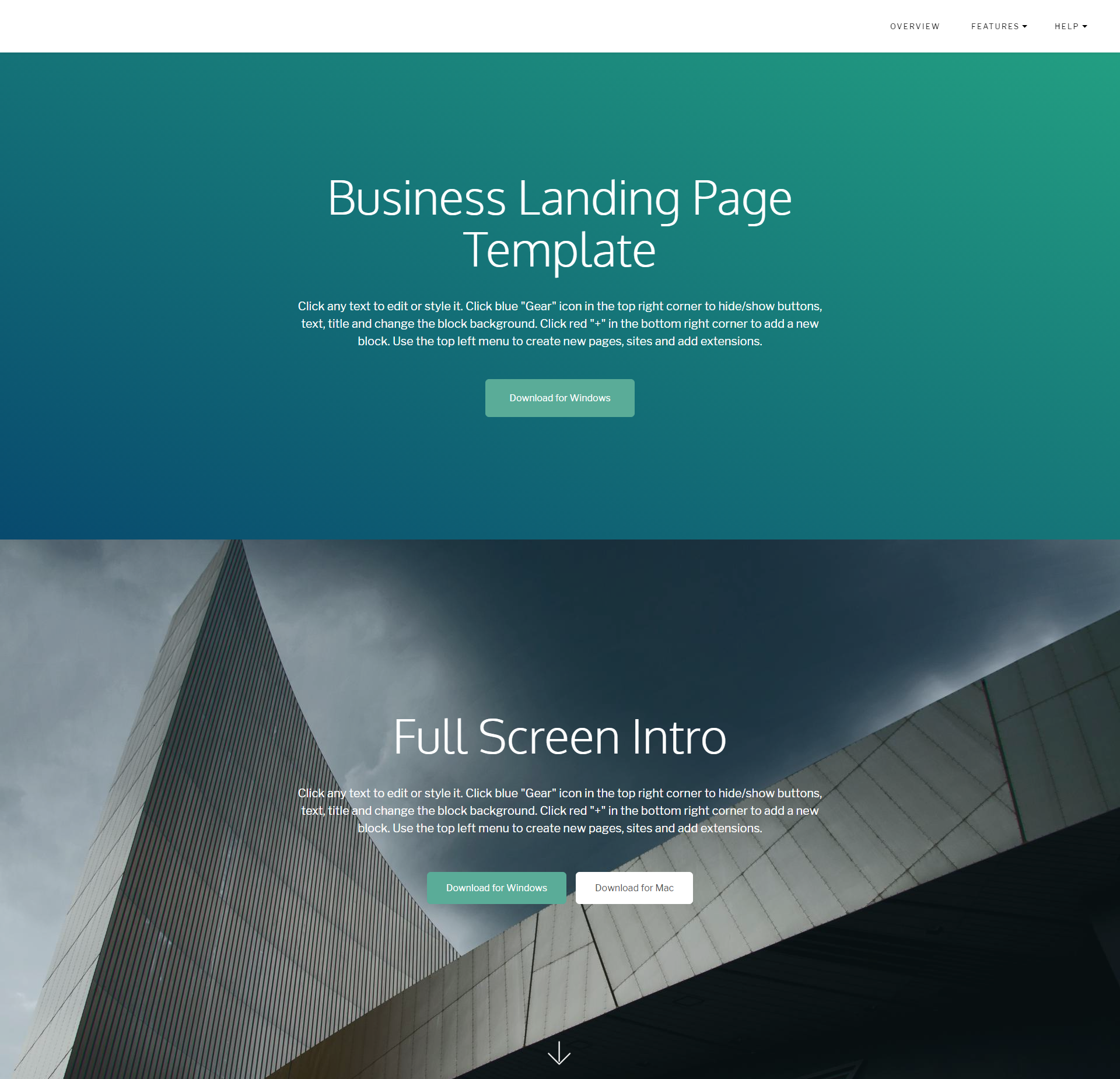 CSS3 Bootstrap Business Landing Page Themes