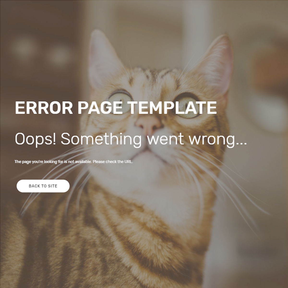 Responsive Bootstrap Error Page Themes