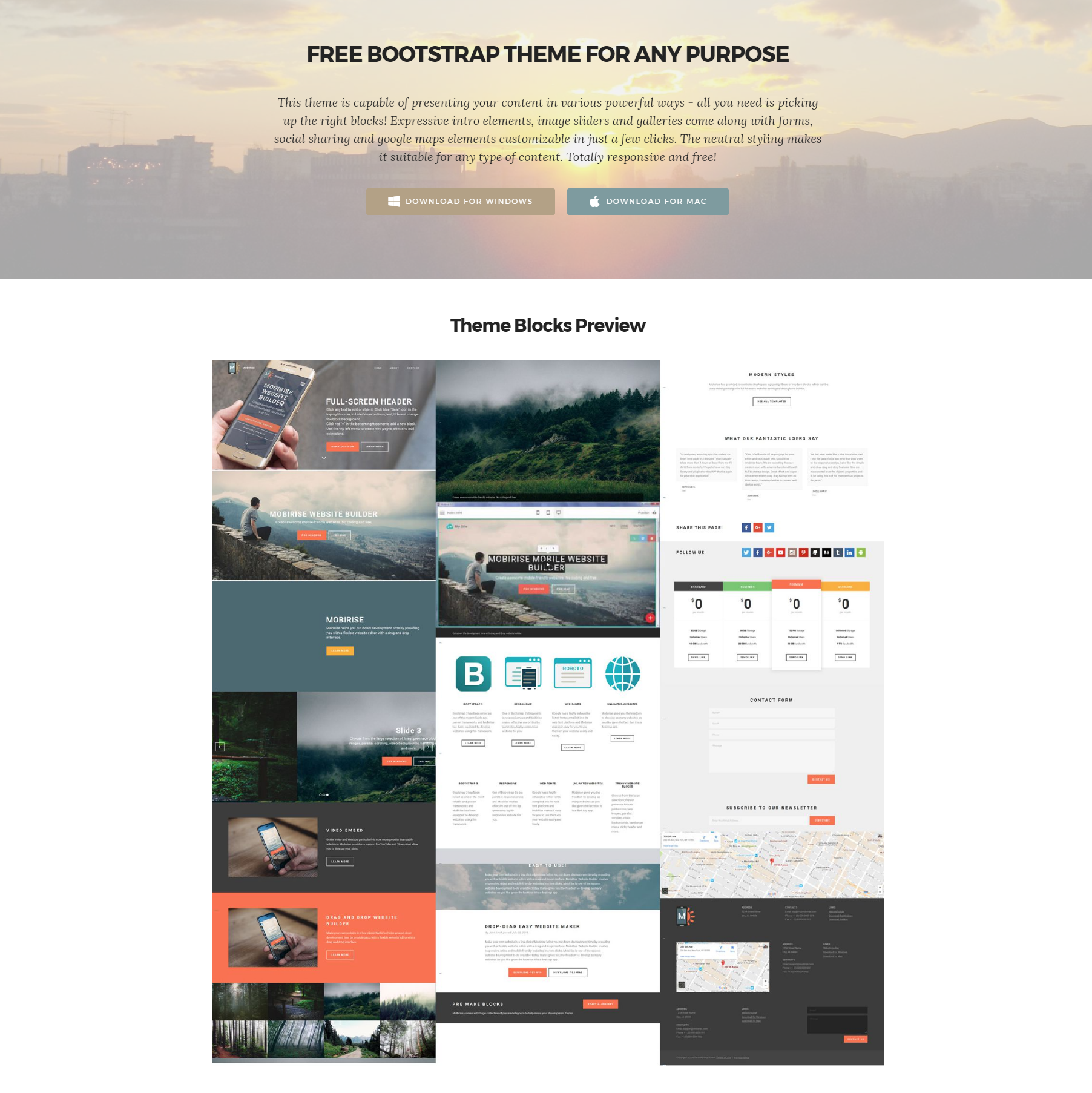 Free Bootstrap Themes
