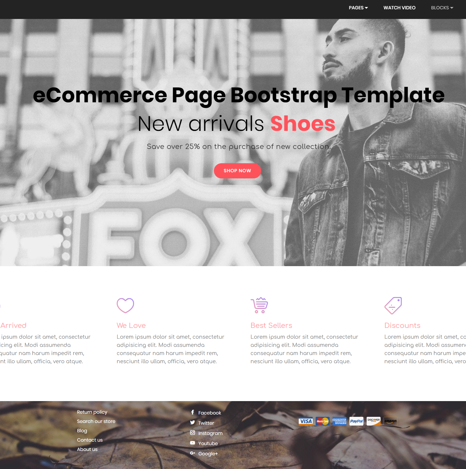 Free Bootstrap eCommerce Themes
