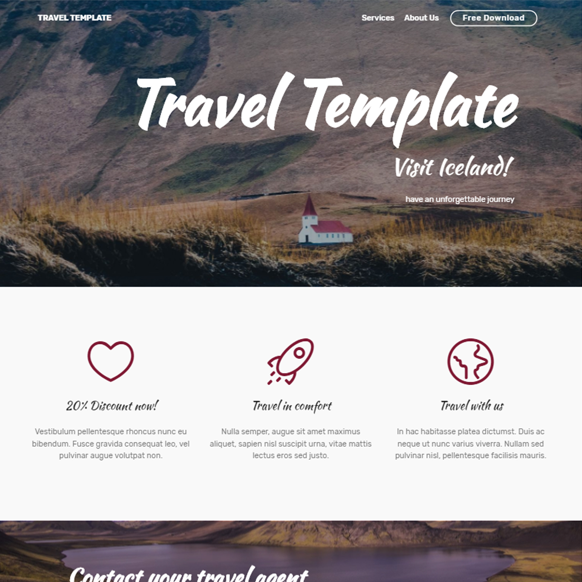 Free Download Bootstrap Travel Templates