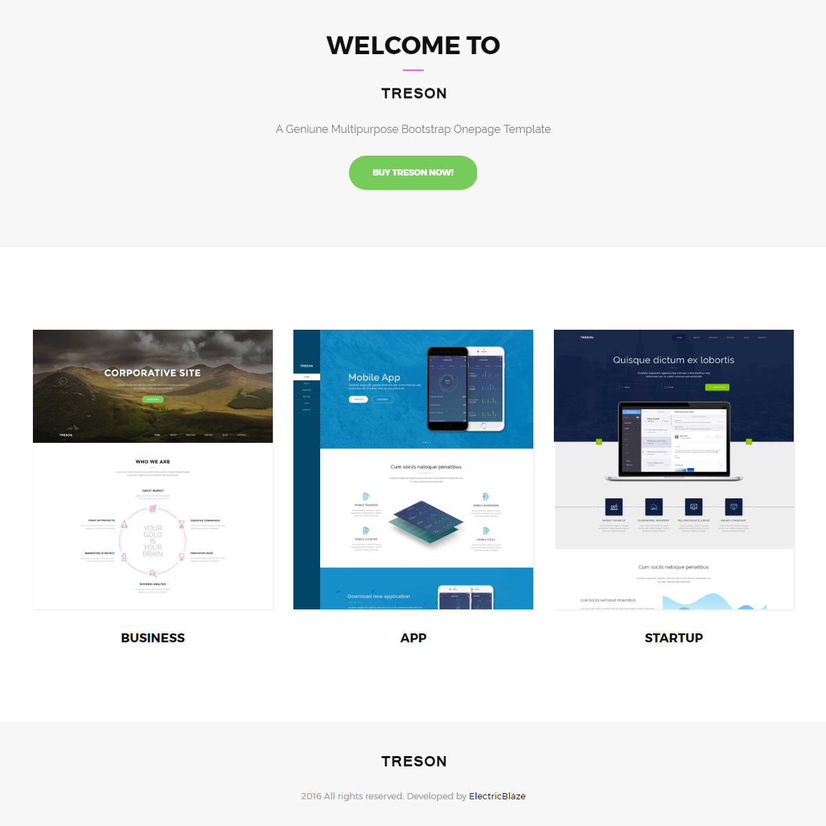 HTML Bootstrap Treson Templates