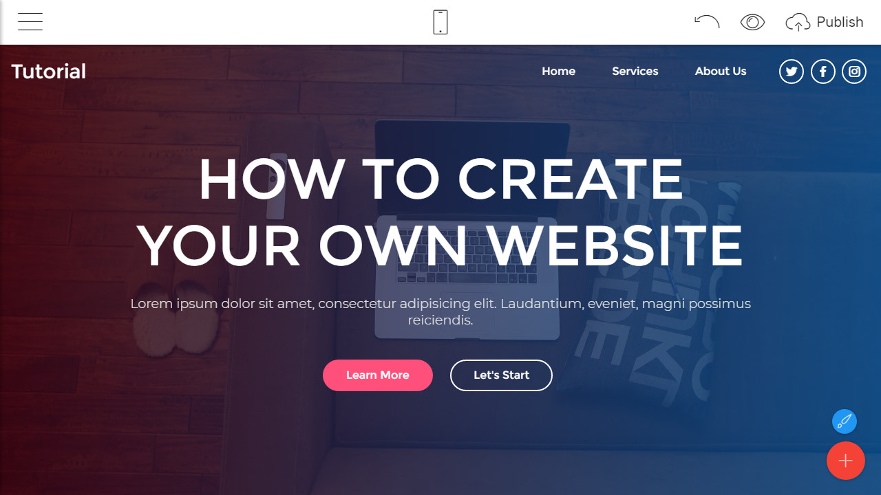 how to create my own website