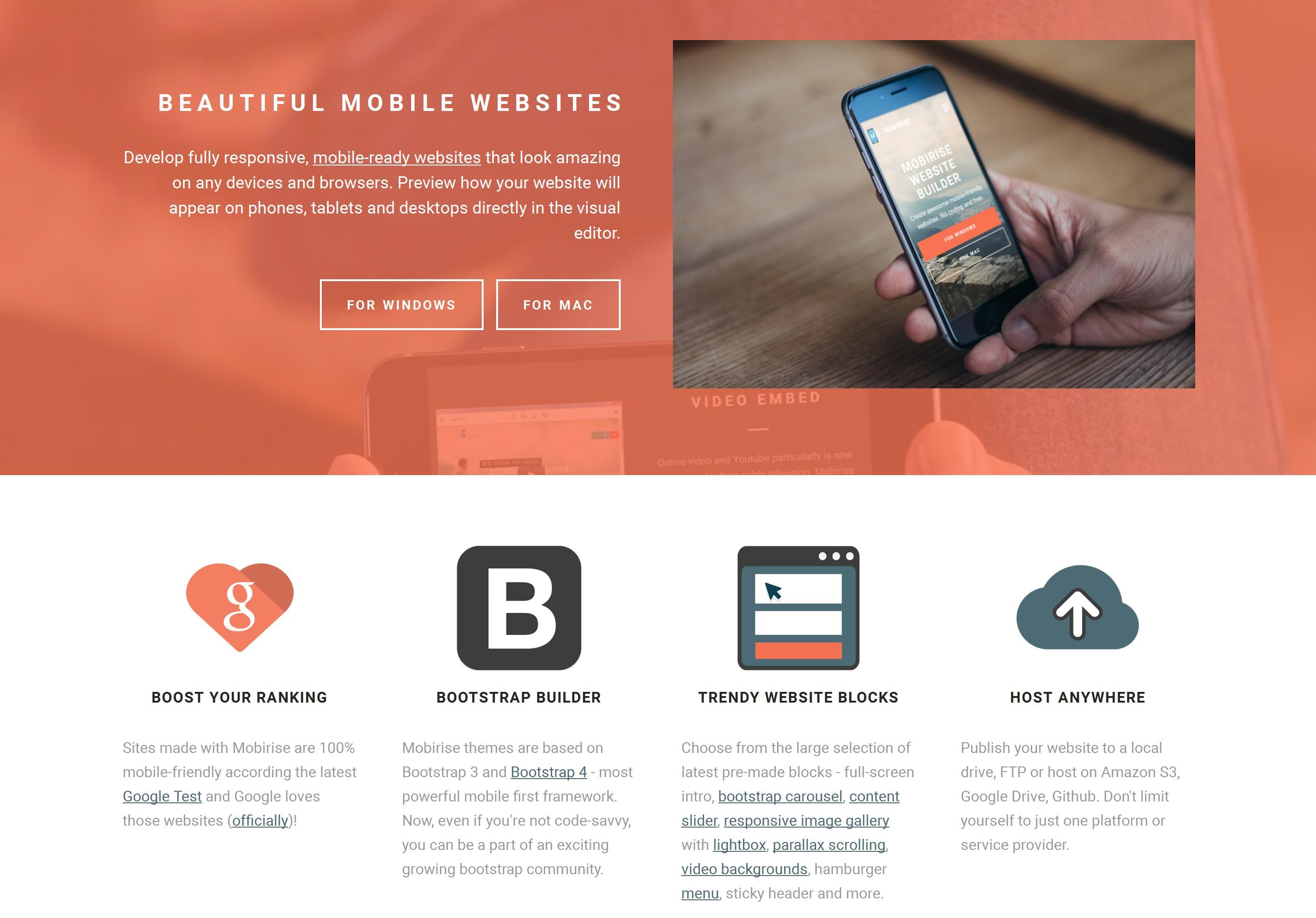 Drag and Drop Mobile Website Builder Software