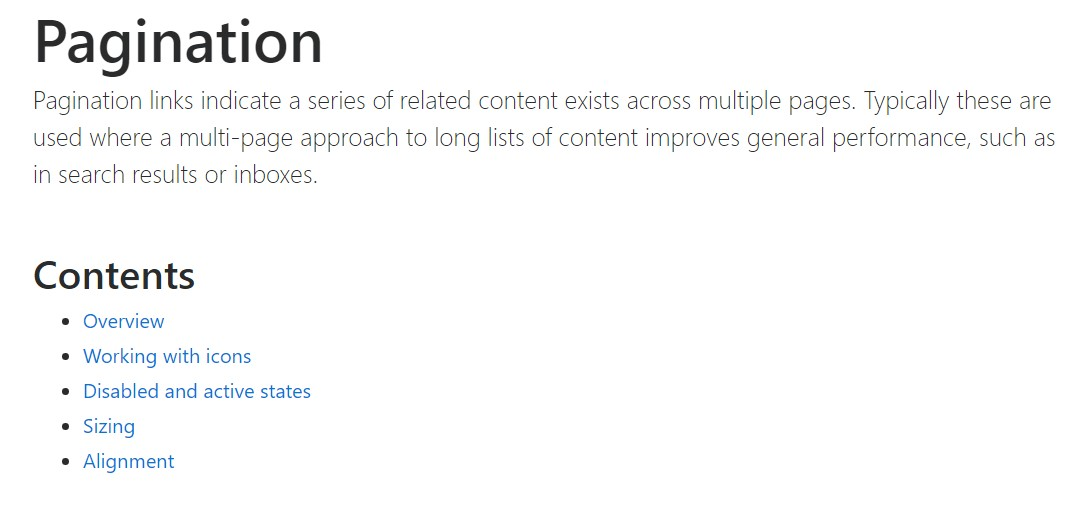 Bootstrap pagination official documentation