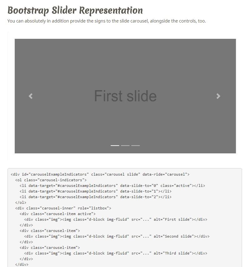 Bootstrap Text Slider