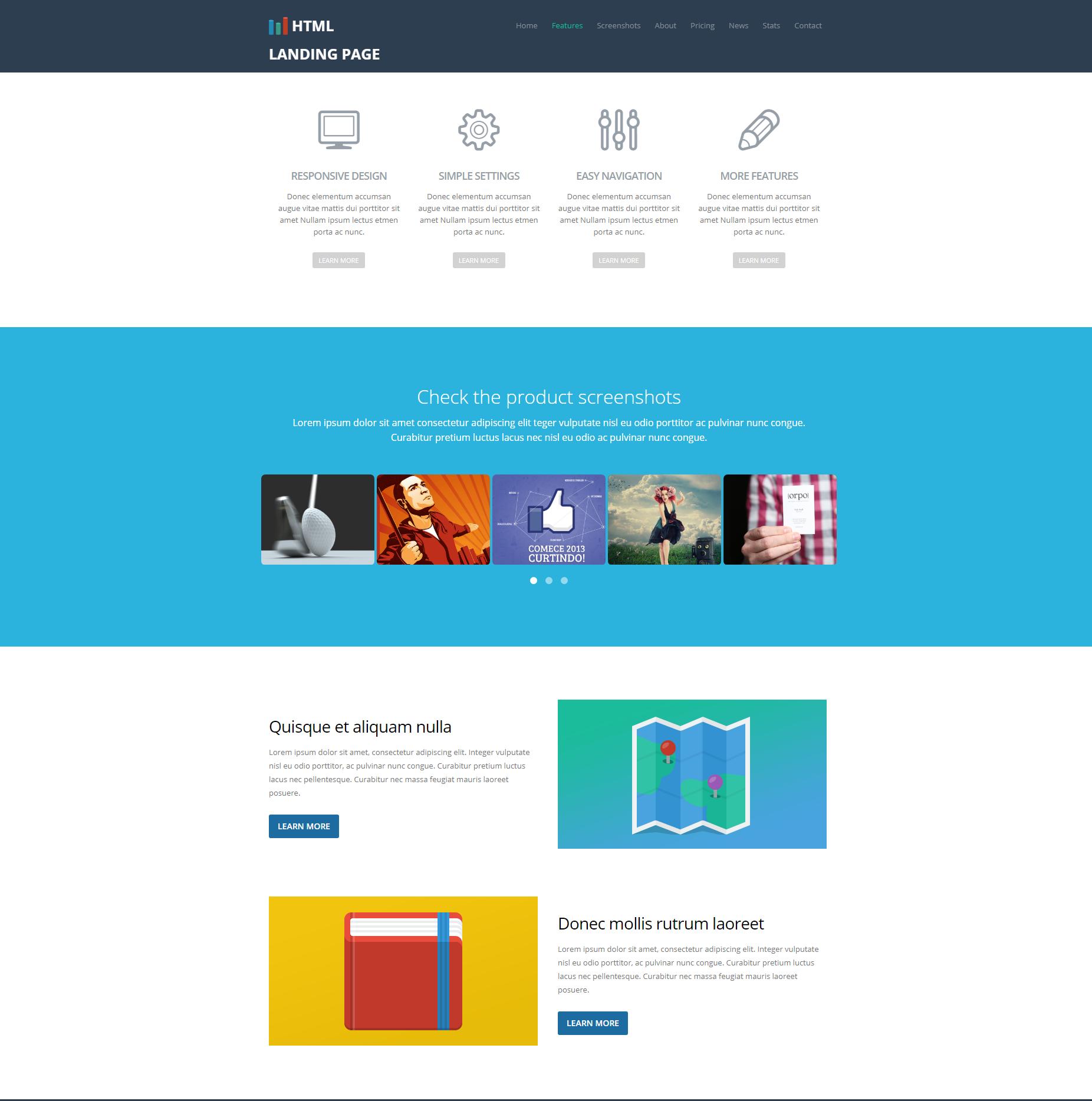 HTML5 Bootstrap Ezyland Themes