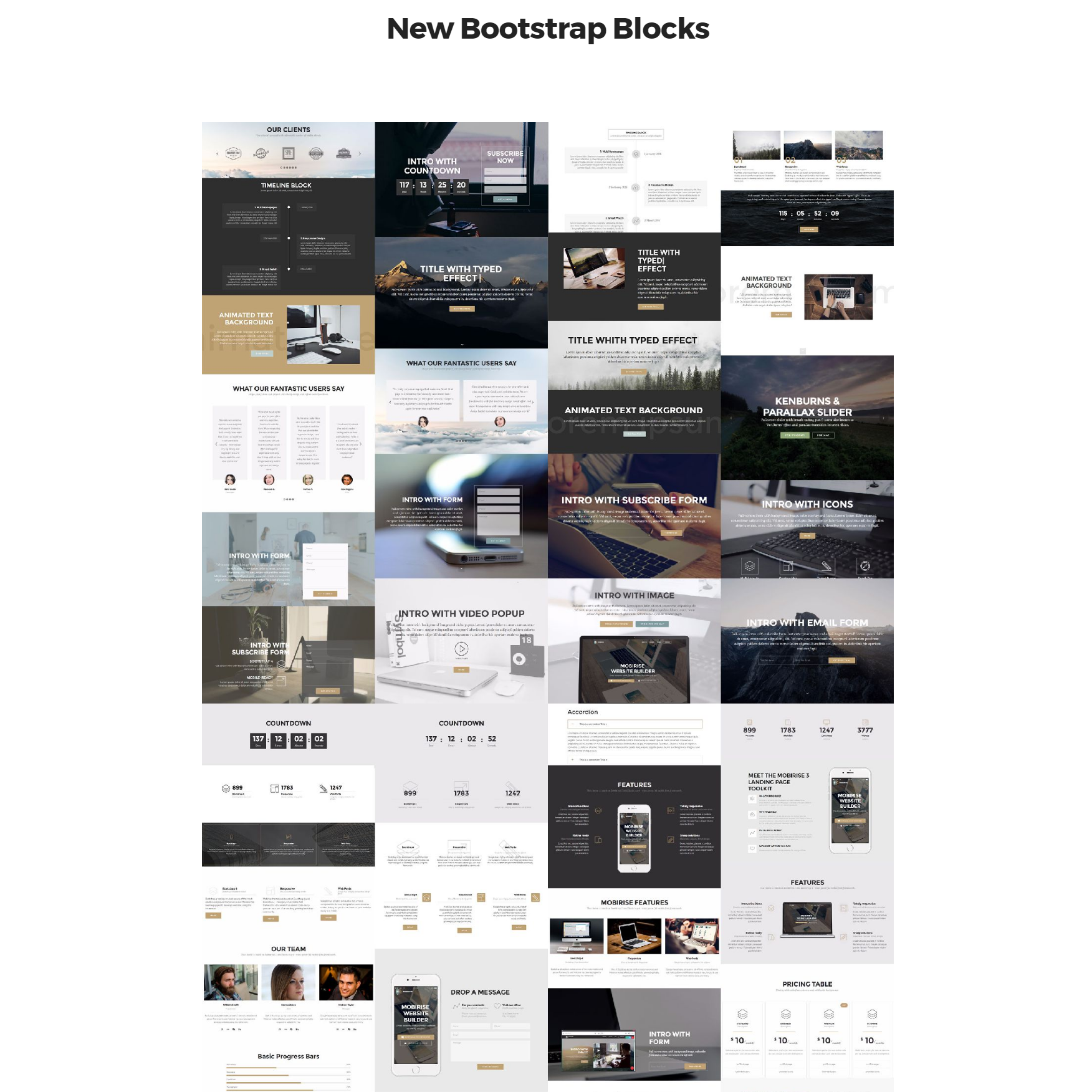Free Download New Bootstrap Templates