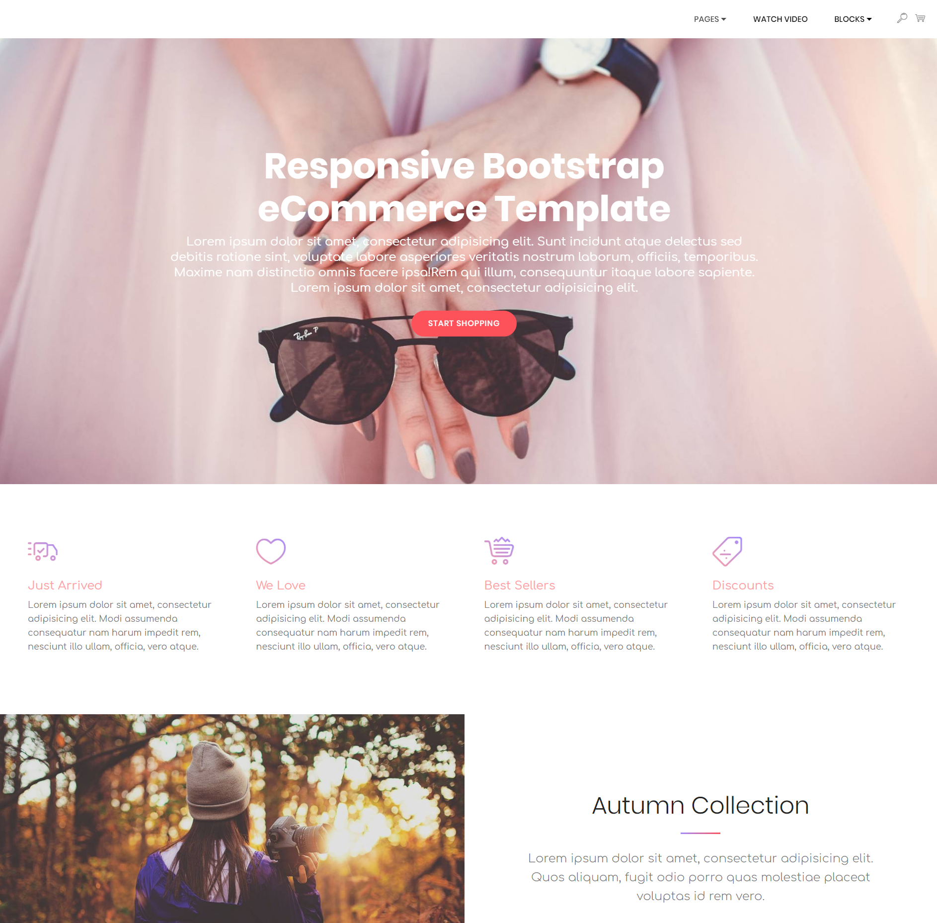 HTML Bootstrap Responsive eCommerce Templates