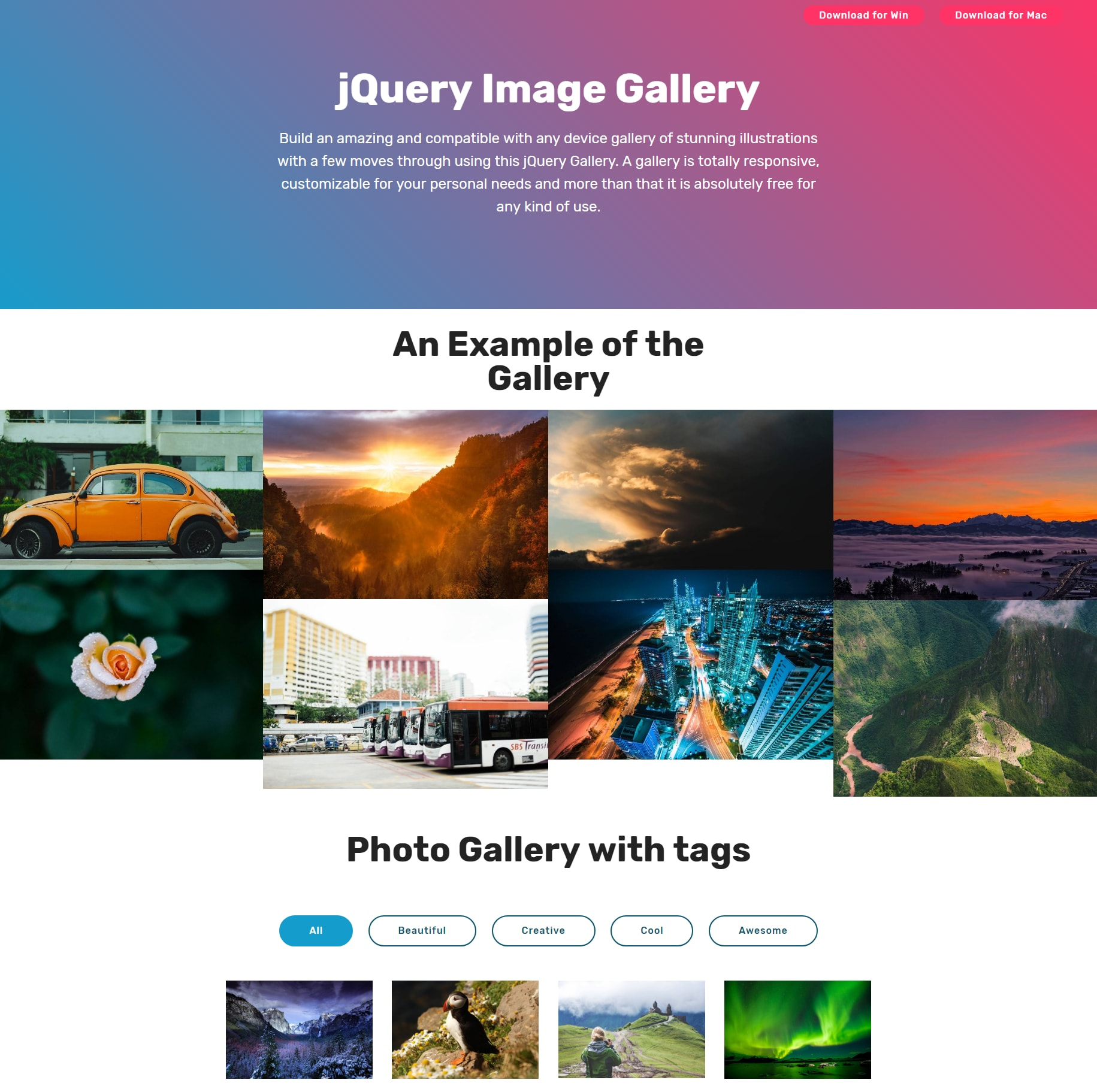 CSS3 Bootstrap Photo Gallery