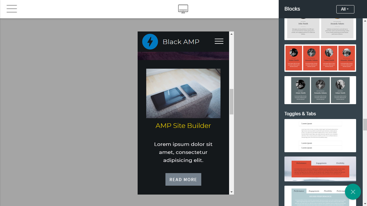 AMP Website Maker